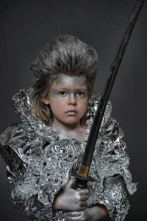 boy in silver photo