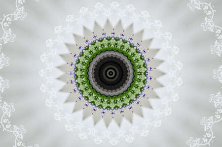 circular ornament for meditation photo