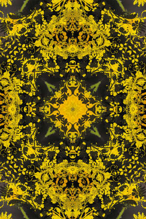 yellow with green ornament carpet Stock Photo - 21069177