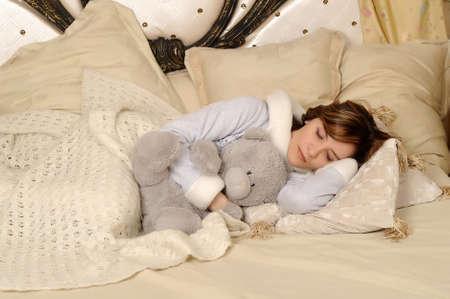 inocent: sleeping girl Stock Photo