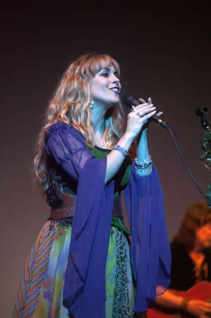 Blackmore s Night - folk-rock band, founded in 1997 by former guitarist «Deep Purple» and «Rainbow» Ritchie Blackmore and Candice Night Stock Photo - 21324047