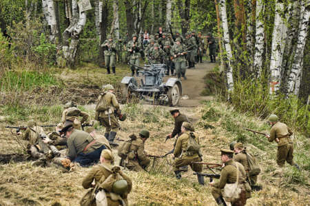 staging: The scenario of military and historical reconstruction  Last fight  is devoted to battles on May 12-13, 1945 with the German parts which are breaking through from Prague towards allied forces