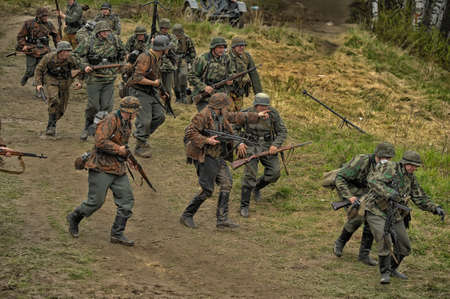 german handgun: The scenario of military and historical reconstruction  Last fight  is devoted to battles on May 12-13, 1945 with the German parts which are breaking through from Prague towards allied forces