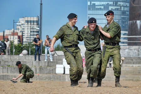 M16: Show of the Marine Corps on the day of the Military Navy, Russia, St  Petersburg, July 2013 Editorial