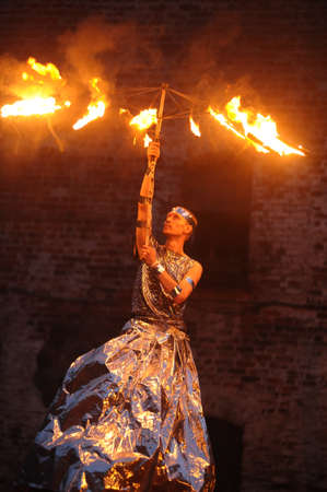 Fire show Stock Photo - 21310504