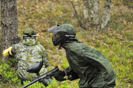 paintball player, paintball tournament, Russia