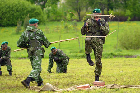 anti terrorist: Celebrating the Day of the Border Guards  Russian soldiers on the demonstration exercises