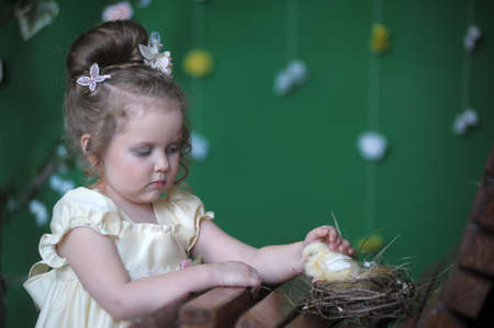 girl with chick photo