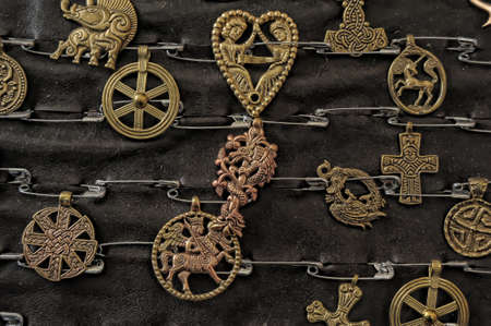 Medieval copper amulets for sale photo