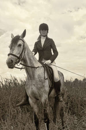 Woman Riding Horse photo