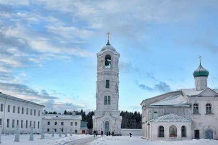 The Holy Trinity Alexander Svirsky Monastery in winter photo