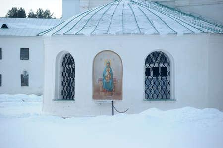 sacred trinity: The Holy Trinity Alexander Svirsky Monastery in winter