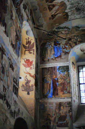 self-healing unrestored fresco of the Trinity Cathedral of Alexander Svirsky Monastery Stock Photo - 21755161