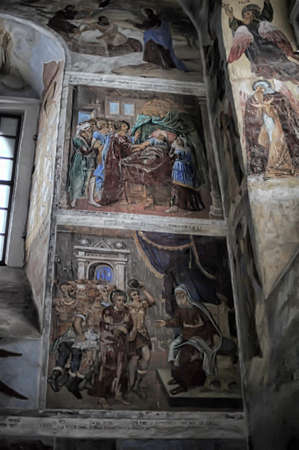 self-healing unrestored fresco of the Trinity Cathedral of Alexander Svirsky Monastery Stock Photo - 21755162