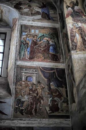 self-healing unrestored fresco of the Trinity Cathedral of Alexander Svirsky Monastery Stock Photo - 21755162