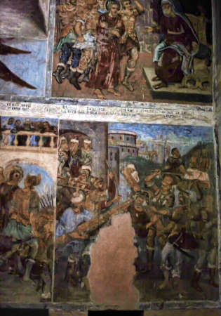 self-healing unrestored fresco of the Trinity Cathedral of Alexander Svirsky Monastery Stock Photo - 21755185