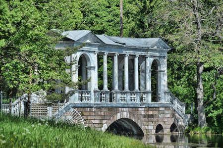 selo: Palladian bridge in the town of Pushkin