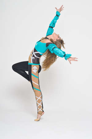 Cool looking girl dances jazz modern dance photo