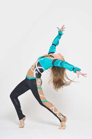 Cool looking girl dances jazz modern dance photo