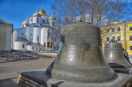 Old church bells in the Novgorod kremlin, Russia. photo