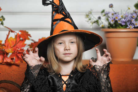 portrait girl witch costume photo