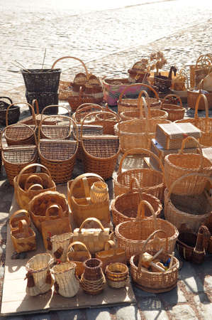 wicker baskets Stock Photo - 23217321