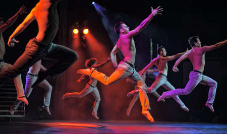 Male ballet performance