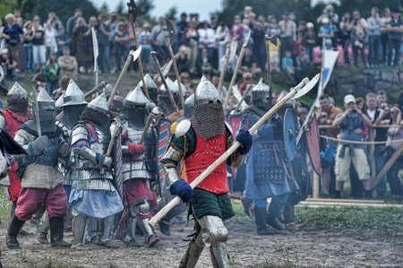 Festival of Medieval Culture Vyborg Thunder, Russia, Vyborg, August 17, 2013 Stock Photo - 23817252