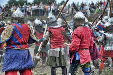 Festival of Medieval Culture Vyborg Thunder, Russia, Vyborg, August 17, 2013 Stock Photo - 23817293
