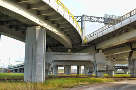 Junction of highways,highway overpass photo