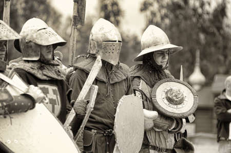 Festival of Military History connoisseurs and lovers of the Middle Ages Stock Photo - 24375092