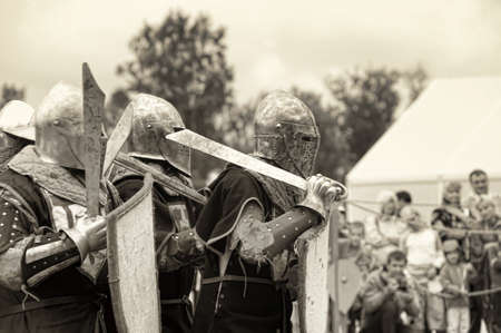Festival of Military History connoisseurs and lovers of the Middle Ages Stock Photo - 24375112