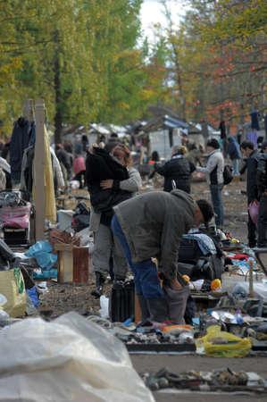 Flea market in a vacant lot, Russia Stock Photo - 25293931