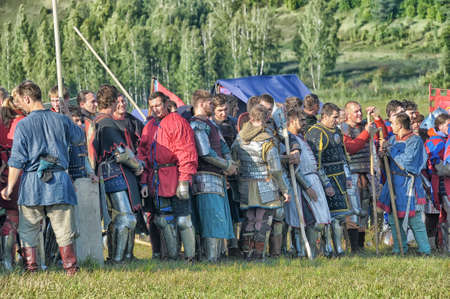 cross armed: in Vyborg Castle, the annual International Festival of Military History connoisseurs and lovers of the Middle Ages,  Knight Editorial