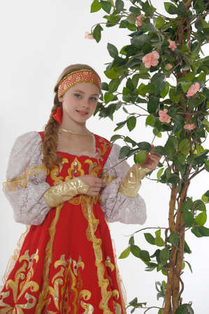 girl  In Russian Traditional Clothing photo