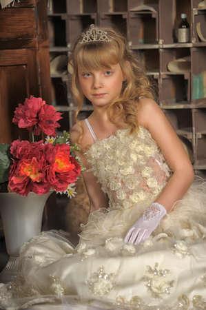 Little bride with tiara photo