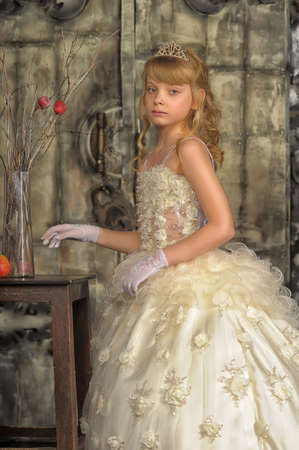 Little bride with tiara photo