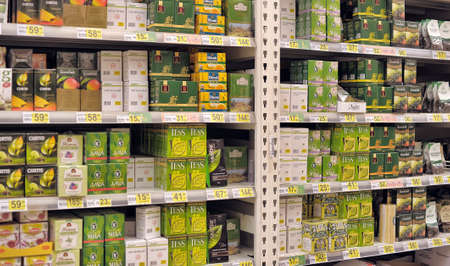 green tea on store shelves
