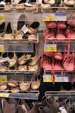 Shelves with shoes