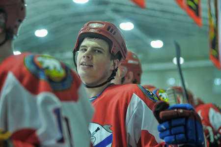 rou: Hockey game, match to celebrate the Day of the Marine Corps, Russia, St  Petersburg