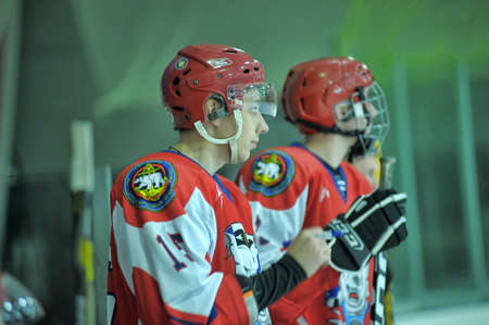 bodycheck: Hockey game, match to celebrate the Day of the Marine Corps, Russia, St  Petersburg
