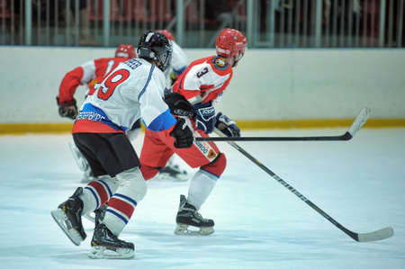 Hockey game, match to celebrate the Day of the Marine Corps, Russia, St  Petersburg
