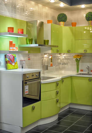 modern kitchen for sale in the furniture store