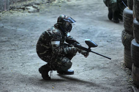 paintball players