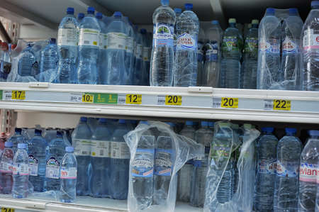 water in the supermarket