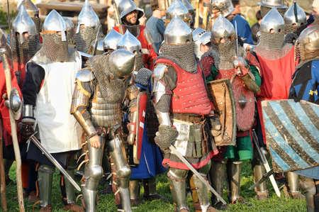 Knights in armor battle