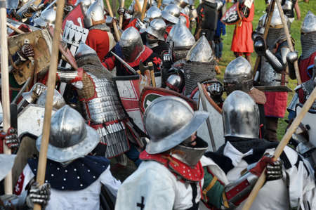 Knights in armor battle Stock Photo - 28186651