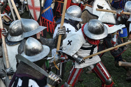 Knights in armor battle Stock Photo - 28186652