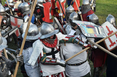 Knights in armor battle Stock Photo - 28186654