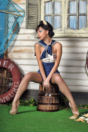 sailor in a pin up style photo